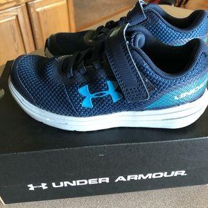 Little boys Under Armour shoes